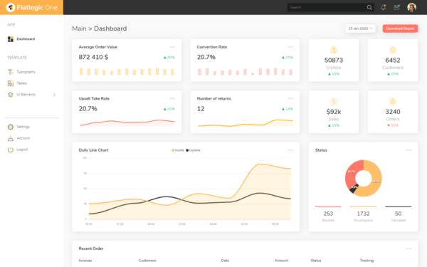 Flatlogic One Free Bootstrap Admin Dashboard Template 1