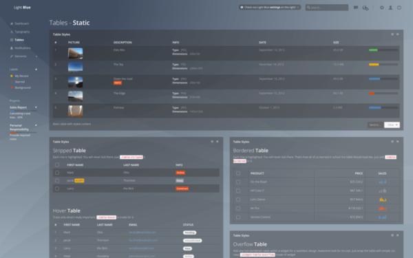 Light Blue Dashboard Lite Free Bootstrap Admin Dashboard Template 1