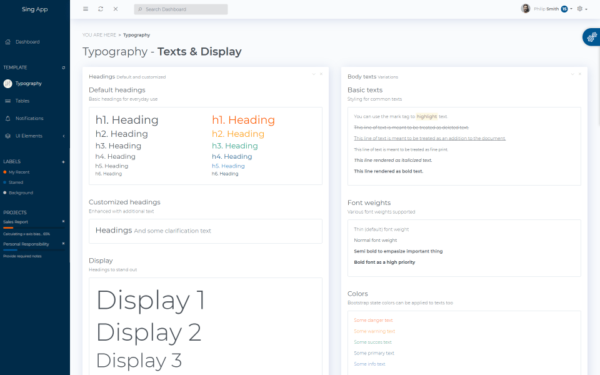 Sing App Html5 Lite Free and Open Source Bootstrap Admin Dashboard Template 2