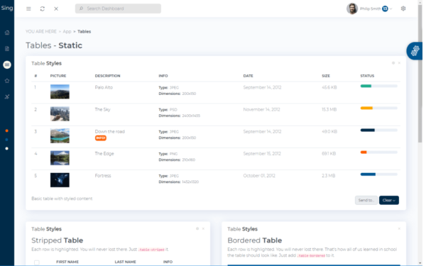 Sing App Vue Dashboard Free Vue.js Admin Dashboard Template 1