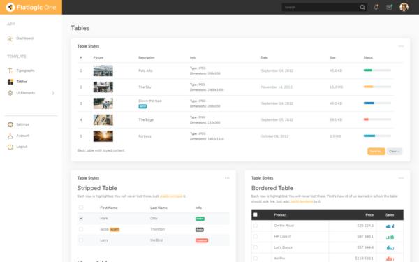 Flatlogic One Free Bootstrap Admin Dashboard Template 2